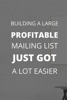 Building a large, profitable mailing list just got a lot easier!