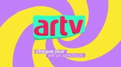 ARTV ID by Samuel Jacques. ARTV channel asks artists to reinterpret their logo for their TV branding.