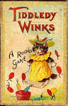 Cats in Illustration: Victorian Games - Tiddledy Winks Vintage Children's Books, Vintage Cat, Victorian Games, Victorian Party, Victorian Toys, Victorian Christmas, Parlor Games, Vintage Board Games, Antique Toys