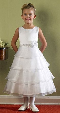 Girls KID Collection New Organza Tiered Flower Girl Dress - Buy New: $44.89 - $49.99 (On sale from $ 132.99)