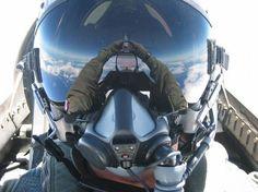 Autofoto en un avión de combate