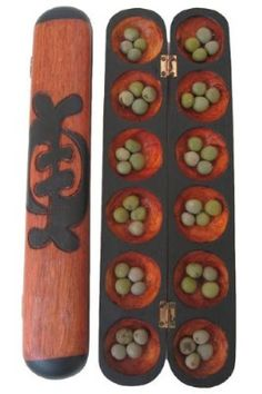 Mancala Oware Seed Game - African Counting Math Game - Carved in Africa