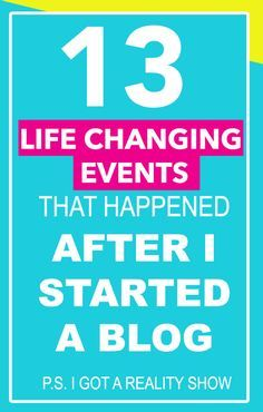 You never know what will come from starting a blog! This is an inspiring list!