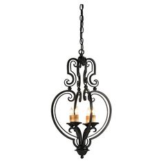 Everlasting Chandelier--would be a great touch over top his and her vanity sinks. The wrought iron is masculine, while the scroll work is softer--a great balance.