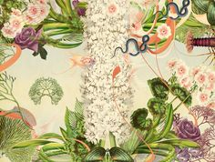 Koi, new botany series, 34 x 45, mixed media, digigraphie on epson velvet fine art paper, 10 signed prints