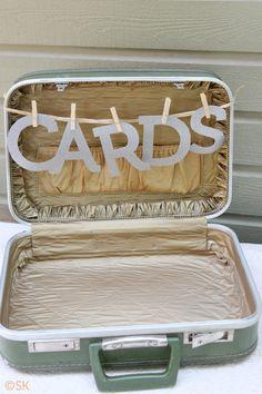 Cards Suitcase | DIY Backyard BBQ Wedding | Snixy Kitchen