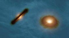 Utilizando el conjunto ALMA (Atacama Large Millimeter/submillimeter Array) un equipo de astrónomos ha descubierto una impresionante pareja d...