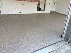 Epoxy chip garage floor installed by Re-Deck of northwest Ohio , lima Ohio www.redeckonwo.com