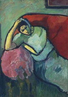 Sitzende Frau - Alexej von Jawlensky