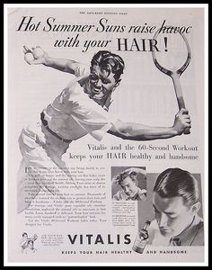 Vitalis Hair Tonic Ad, 1935 by ozfan22, via Flickr