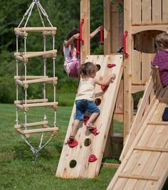 Frolic 469 Wooden Swing Set and Outdoor Playset Toddler Playground, Backyard Playground, Backyard Games, Playground Ideas, Kids Outdoor Play, Kids Play Area, Backyard For Kids, Indoor Play, Wooden Playset