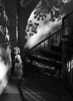 by Stanko Abadzic, Cherub in Shadows, 2008 Spirit World, Light And Shadow, Cherub, Mists, Photo Art, Black And White, Eggman, Pictures, Photography