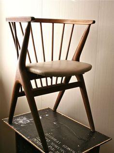 Vintage Wooden Danish Modern Child's Chair by blueflowervintage