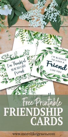 Free Printable Friendship Cards – More Like Grace Verses For Cards, Scripture Cards, Free Printable Cards, Card Making Ideas Free Printables, Printable Art, Freebies, Envelope, Friendship Cards, Cards For Friends