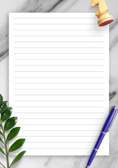 Lined Paper Template - Wide Ruled Printable Border, Printable Lined Paper, School Organization Notes, Japan Landscape, Borders For Paper, Adult Coloring Pages, Printables, Templates, Backdrops