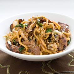 Pork Stir-Fry with Noodles (Lo Mein)