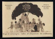 Original Vintage 1924 Art Deco Advert A La Grande by PHILALETTRE