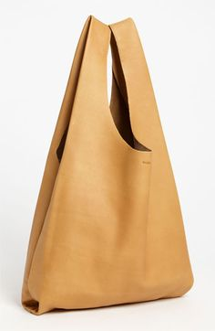 leather baggu shoulder bag