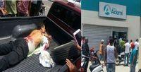 VÍDEO FUERTE –Seguridad herido en asalto a banco en La Vega Pide justicia
