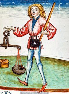 Geldwechsler  (Money changer)   Dieses Bild: 006749    1479 ; 1479 ; Wien ; Österreich ; Wien ; Österreichische Nationalbibliothek ; cod. 3049 ; fol. 131r