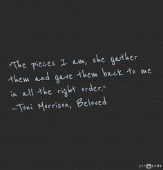 Beloved by Toni Morrison Dope Quotes, Clever Quotes, Great Quotes, Beloved Toni Morrison, Mothers Day Quotes, Literary Quotes, Love And Marriage, Inspire Me, Quote Of The Day