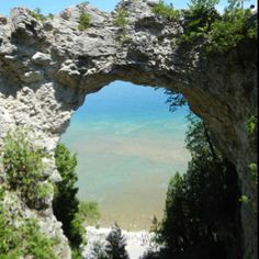 Our family had an amazing trip here.  We biked around Mackinac Island and saw this arch.  It was beautiful.
