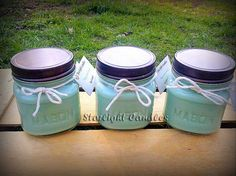6 Super Scented Soy Candles in 8 oz Mason Jars on Etsy, $40.00