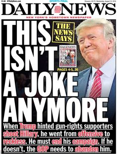 NYDN front pages of 2016