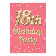 18th birthday party invitations ideas