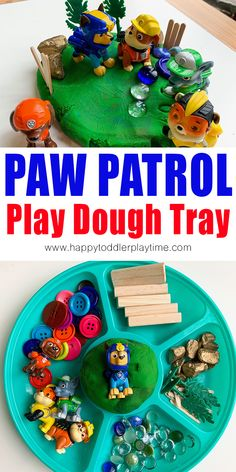 Do you have a PAW Patrol fan in your house? Set up this fun and easy PAW Patrol play dough tray for them and let their imagination fun wild! Playdough Activities, Infant Activities, Activities For Kids, Enrichment Activities, Preschool Education, Montessori Activities, Creative Activities, Physical Education, Toys For Boys