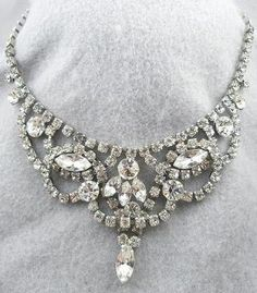 Weiss Rhinestone Necklace - Garden Party Collection Vintage Jewelry
