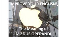 Modus Operandi, Improve Your English, David James, Online Courses, Improve Yourself, Meant To Be, Confidence, Language, Words
