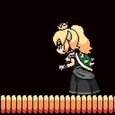 Watch and share Super Mario GIFs and Video Games GIFs by themariostars on Gfycat Anime Ai, Kawaii Anime, Metroid, Stitch Games, Princesa Peach, Nintendo Princess, Anime Pixel Art, Nintendo Characters, Nintendo Games