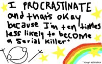 Yep, that's why I procrastinate alright!