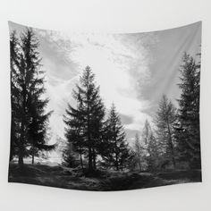 Buy Zeitgefluester Wall Tapestry by julieart. Worldwide shipping available a. Forest Tattoo Sleeve, Forest Tattoos, Nature Tattoos, Boy Tattoos, Sleeve Tattoos, Cute Wallpaper For Phone, Room Goals, Cool Walls, Easy Diy Projects