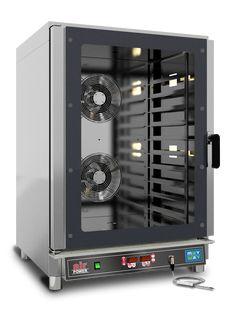 E-Kombidämpfer, AIRPOWER-10-D herausnehmbare Backblechträgerschienen, Türanschlag links, digitale Steuerung, Autoreverse des Lüftermotors, Kerntemperaturfühler, Wassereinspritzung und Tauwasserablauf, Thermostat: 280°C inkl. 3 verchromte Roste FO4NEA0030, Kapazität: 10 Roste GN 1/1 od. 60x40cm Schienenabstand: 8 cm Anschlussw.: 400 V / 12,7 kW Abm. Backraum: 68 x 48 x 84 cm (BxTxH) Abm.: 84 x 91 x 115 cm (BxTxH) Music Instruments, Audio, Sheet Metal, Musical Instruments