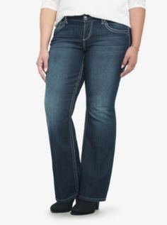 Torrid Relaxed Boot Jean - Medium Wash with Lurex Stitching @Wendy | GimmieFreebies #WinYourHolidayWishList Torrid Jeans fit so awesome! Want these so bad because I own ONE pair of jeans! HELP!