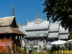 One of Thailand's more unusual wats, the silver temple at Wat Srisuphan in Chiang Mai showcases traditional Lanna silversmith skills.