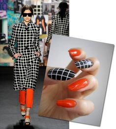 ZigiZtyle: Inspiration Nails: Tracy Reese Outfit