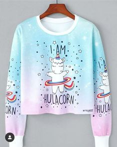 To find out about the Unicorn Print Sweatshirt at SHEIN, part of our latest Sweatshirts ready to shop online today! Sweatshirts Online, Hoodie Sweatshirts, Printed Sweatshirts, Hoodies, Frauen Sweatshirts, Unicorn Fashion, Unicorn Outfit, Unicorn Clothes, Unicorn Hoodie