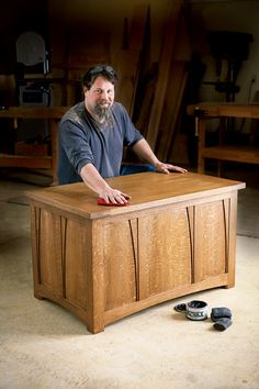 Arts and Crafts, Frame and Panel Blanket Chest