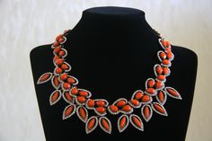 #statement #necklace #orange https://www.facebook.com/pages/Sweet-Lady/208753725975495?ref=hl