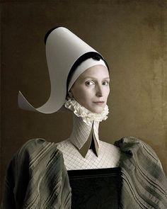 portrait ❈ le projet I503 du photographe et artiste Christian Tagliavini, basé entre la Suisse et l'Italie, qui revisite portraits de la Renaissance