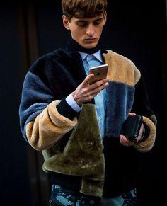 Man in Fur Jacket