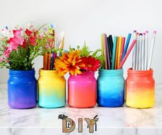 3 ways to decorate glass jars. 3 ways to decorate glass jars diy projects videos, diy crafts Diy And Crafts Sewing, Diy Home Crafts, Diy Crafts Videos, Decor Crafts, Fun Crafts, Diy Videos, Handmade Crafts, Diy Room Decor Videos, Plate Crafts