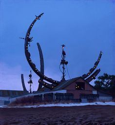 Incredible paintings of sci-fi suburbia will make you wish you were Swedish | The Verge