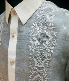 Image result for filipino embroidery Floral Tie, Alexander Mcqueen Scarf, Embroidery, Mens Tops, Filipino, Dresses, Image, Fashion, Vestidos