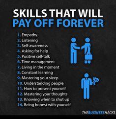 Helpful skills