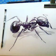 Working like an ant;) #art_spotlight #animaldrawing #artsgallery #artsy #art…