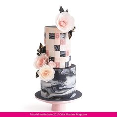 geometric and marbled fondant cake Shared by SPCN. Gorgeous Cakes, Pretty Cakes, Cute Cakes, Amazing Cakes, Unique Cakes, Elegant Cakes, Wedding Cake Designs, Wedding Cakes, Dessert Wedding